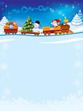 Fototapety Christmas train