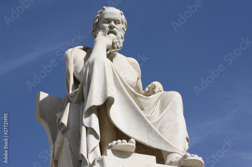 Fotobehang Athene Ancient Greek philosopher Socrates
