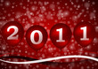 2011 new year illustration with red ballons