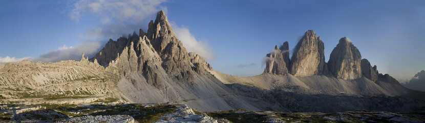 Dolomiti landscape. Mount Paterno and Tre Cime