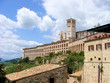 Basilica of Saint Francis - side view - Assisi, Italy