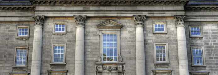 Trinity College West Front Dublin, Ireland (Irland)