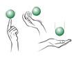 Hände und Ball