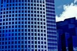 Blue modern buildings in todays world