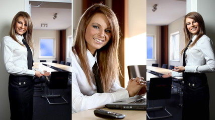 Business lady working in the office.