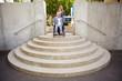 Unüberwindbare Treppe für Rollstuhlfahrer