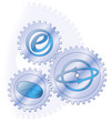 Zahnrad, cog, gearwheel, Konzept, Business, e-Commerce