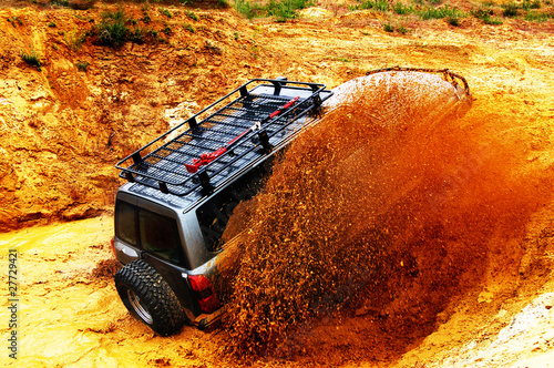 Fotobehang Water Motorsp. Off roading thrill