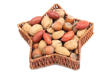 Christmas basket with nuts