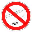 Panneau interdit aux drogues