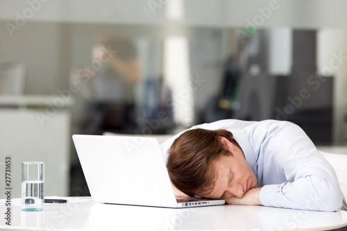 Businessman sleeping