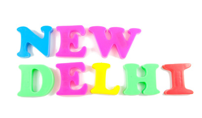 new delhi written in fridge magnets