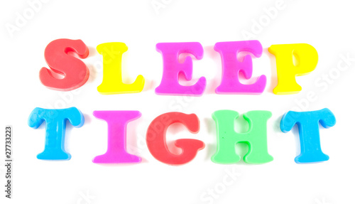 sleep tight written in fridge magnets