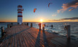 Lighthouse in Lake Neusiedl at sunset - Lower Austria