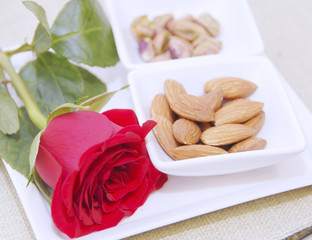 rose and nuts