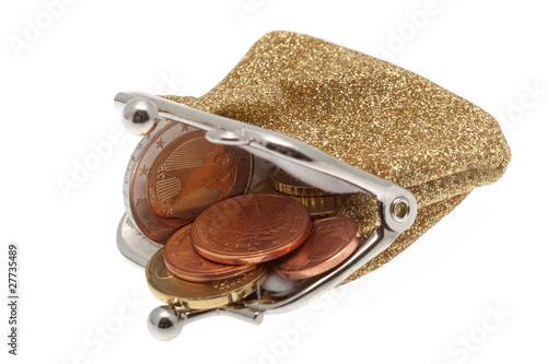 Geldbörse mit Münzen