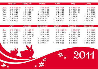2011 calendar (starts Sunday) purple color
