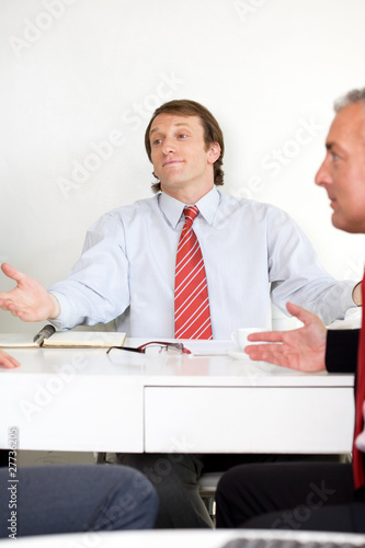 During a business meeting