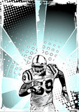 Fototapety blue poster of american football