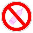 Panneau interdit aux préservatif