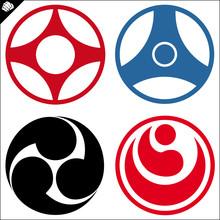 LOGO KOMPLET Karate Kyokushin, Kyokushin Kan, Okinawa, shinkyokushinkai