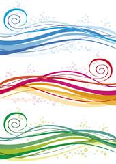 onde e bolle colorate