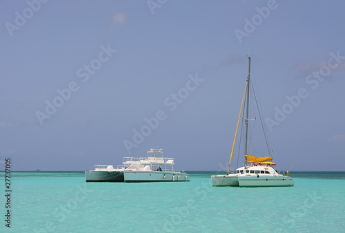 catamaran in saona beach