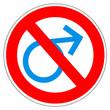 Panneau interdit aux hommes