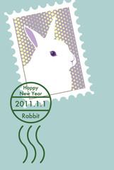 うさぎ切手と消印