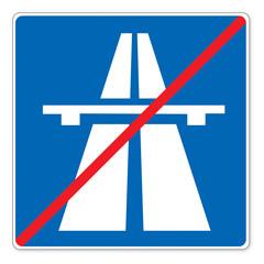 Schild (50) Ende der Autobahn