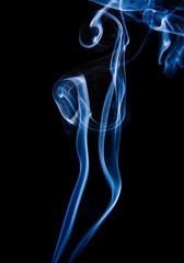 wisp of smoke on black