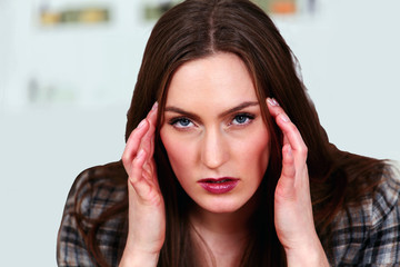 Female with migraine or stress