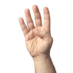 mano quattro dita