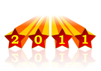 2011 new year illustration with stars