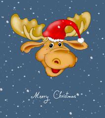 Rentier Weihnachtskarte