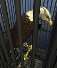 Democracy in America: Incarceration Nation - 3d render