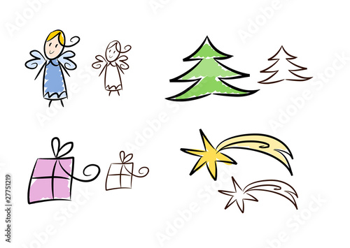 clipart set weihnachten und advent 2 farbversionen von. Black Bedroom Furniture Sets. Home Design Ideas