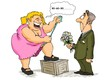 cartoon, comic, caricature, collection, woman, man,