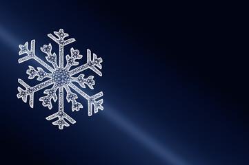 Eiskristall in 3D als Symbol für Kälte, Kühlung oder Winter