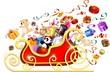 Slitta Natale e Giocattoli-Christmas Sleigh andToys-2-Vector