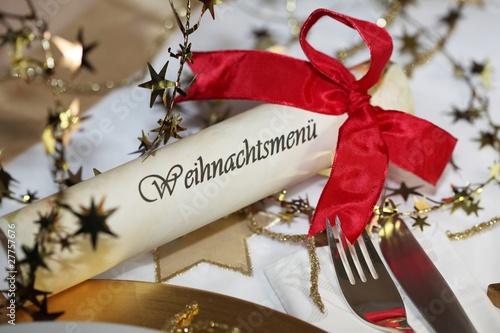 edel gedeckter weihnachtstisch von jeanette dietl lizenzfreies foto 27757676 auf. Black Bedroom Furniture Sets. Home Design Ideas