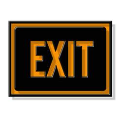 panneau sortie, exit