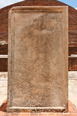 Stone tablet with inscriptions