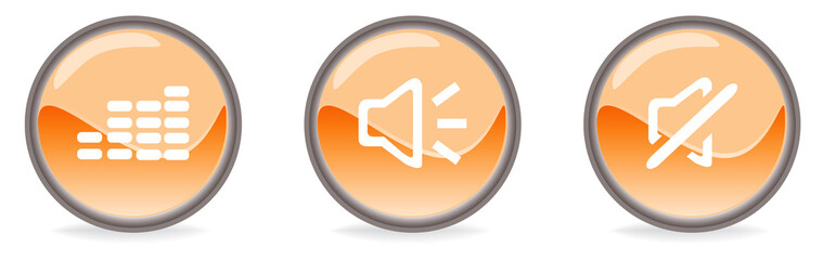 Simboli arancioni audio