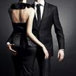 Leinwanddruck Bild - Young elegant couple