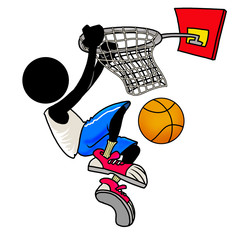 Silhouette-man sport icon - basketball player