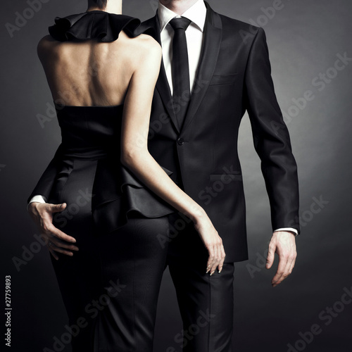 Plexiglas Akt Young elegant couple