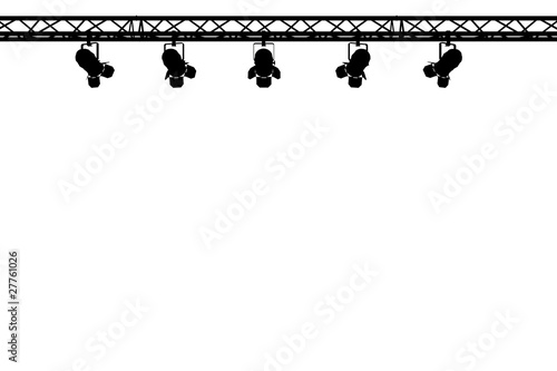 silhouette of stage lights on white background