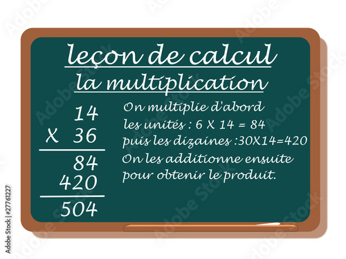CALCUL:LA MULTIPLICATION