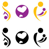 Pregnancy and motherhood symbol. poster